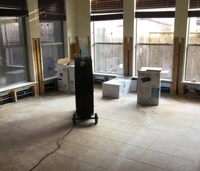 Water damage to Sunroom from heavy rain